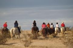 Singles' Retreat: trail ride